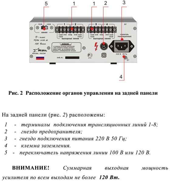 Микшер-усилителmи РУШ 6100 М в новом конструктиве